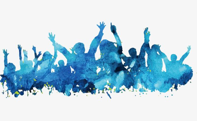 People Blue Watercolor Background Material Watercolor Watercolor
