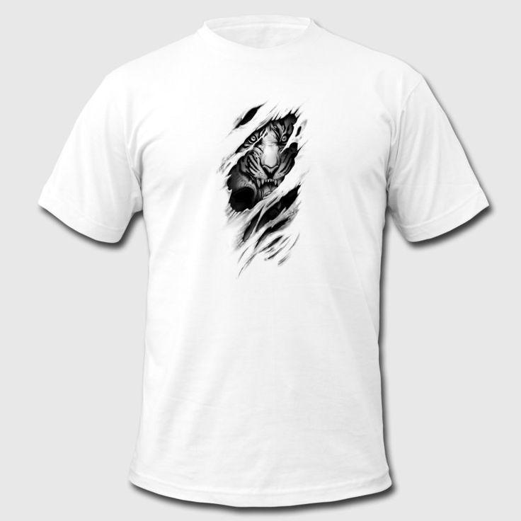 Rip Torn Tiger Men's T-Shirt by American Apparel - Men's T-Shirt by American Apparel