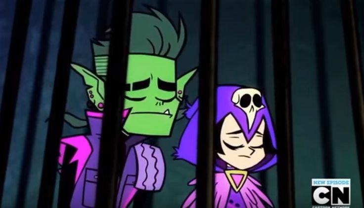 Teen Titans The night begins to shine beastboy and raven