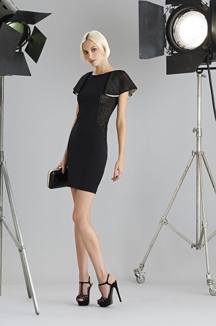Sonia Fortuna Spring Summer Collection 2015 Black Elegant Dress