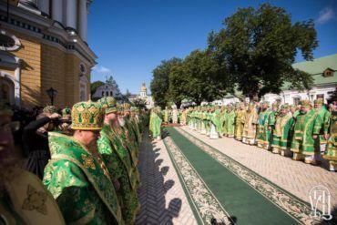 Епископ Боярский Феодосий сослужил Предстоятелю УПЦ в день памяти его небесного покровителя