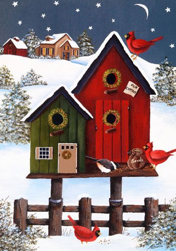Holiday Birdhouses