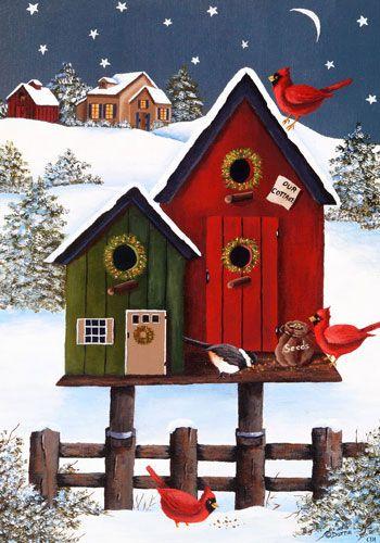 Custom Decor Flag - Welcome Birdhouses Decorative Flag at Garden House Flags at GardenHouseFlags