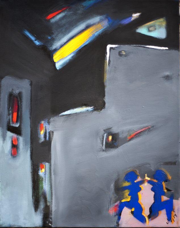 HAJNOSZ Magdalena _ Spacer, akryl na płótnie, 70x50 cm, 2014 r.