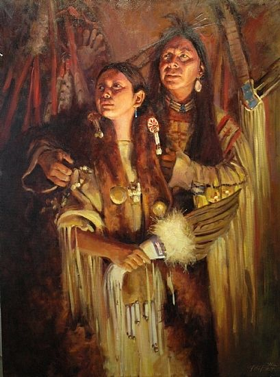 """""""Warrior's New Wife"""" -- by Phil Beck, American"""