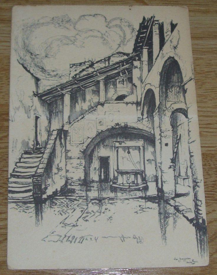 Ansichtkaart – Anton Pieck – Trap te San Gimignano | Boekenwurm