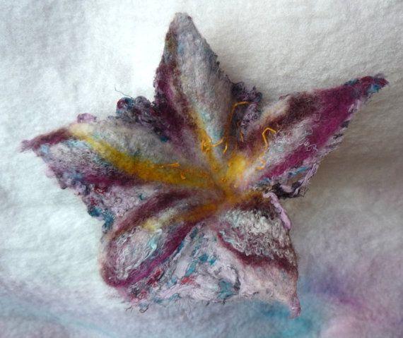 Nuno felted flowerSewing suppliesFelting by Silkcraft on Etsy, $8.99