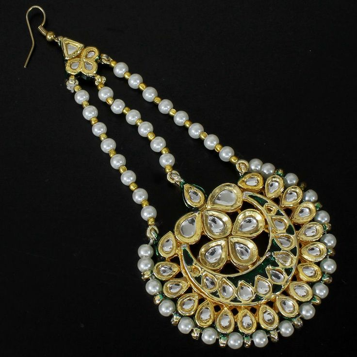 ATULA HAIR JEWELRY MUGHAL CHAND JHOOMER @ Indiatrend for $34.99USD With Free Shiping Worlwide