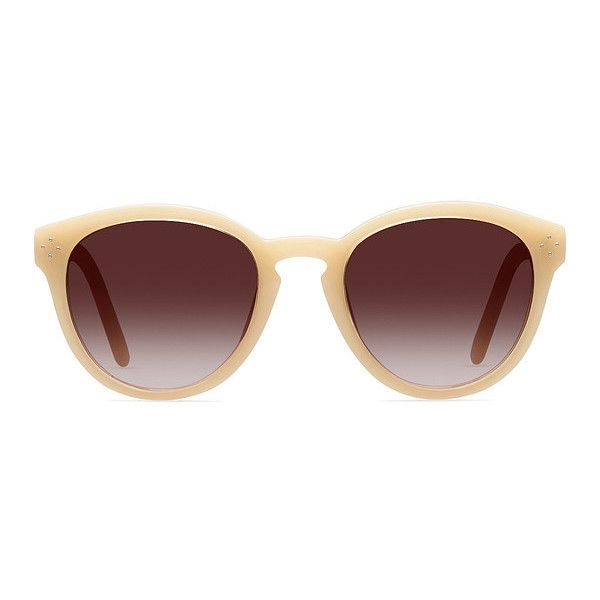 Women's Augustine - Yellow round plastic - 13145 Plastic Rx Sunglasses ($42) ❤ liked on Polyvore featuring accessories, eyewear, sunglasses, wayfarer sunglasses, yellow glasses, round glasses, plastic glasses and yellow wayfarer