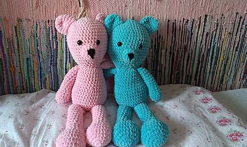 Stuffed Animals – Crochet Plushy Soft Bear – a unique product by MadamLove on DaWanda Pattern designed by Sharon Ojala.