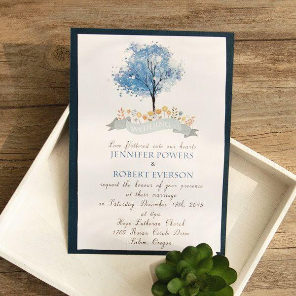Top 10 Trending Navy Blue Wedding Invitations For 2016 Brides