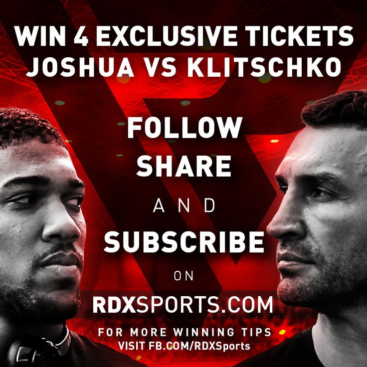WIN with RDX Sports! We're giving away 2 pairs of VIP & Exclusive tickets to the most anticipated Boxing match of the decade! Watch our old friend, & home crowd Hero, Anthony Joshua defend his belt against the Legendary Klitschko – 29th April, Wembley Stadium, London. Tag a friend, lover or family – & watch history unfold! 3 EASY steps to win – 1st Prize are a pair of VIP tickets, 2nd Prize are a pair of Exclusive ones. FOLLOW the below-mentioned tips & hints to increase your chances of…