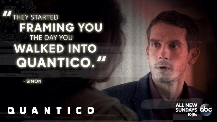 """S1 Ep3 """"Cover"""" - Where's the scar? #Quantico"""