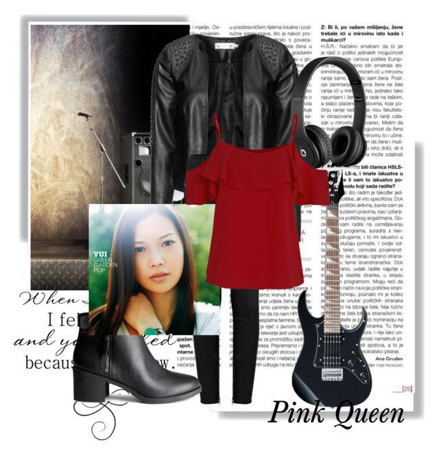 """""""Singer Yui"""" by kaitlynpope77 ❤ liked on Polyvore featuring Zizzi, J Brand, H&M, Beats by Dr. Dre, MyStyle, singer, guitar and jpop"""