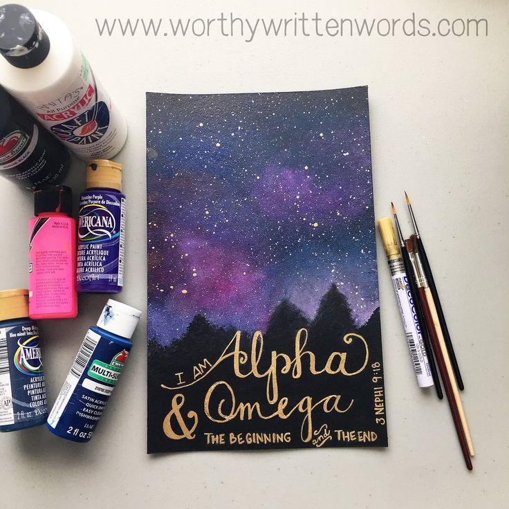 Hand Painted & Sewn Journal: Alpha and Omega