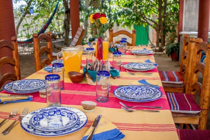 El Sabor Zapoteco table Oaxaca Cooking Classes