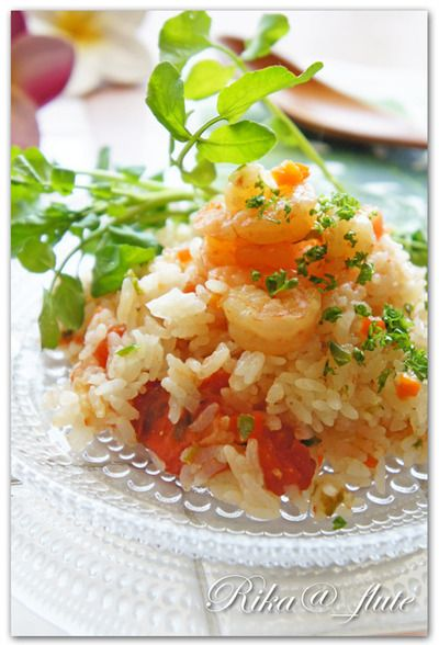 まるごとトマトの海老ピラフ by りかりんさん   レシピブログ - 料理 ...