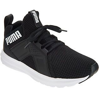 PUMA Mesh Lace-Up Sneakers - Enzo Weave