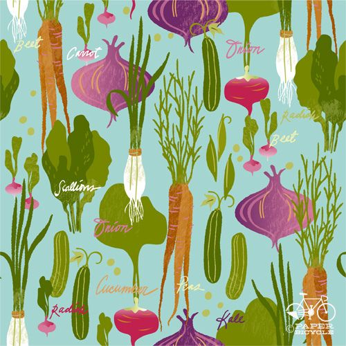 A lovely vegetable pattern by Lindsay Nohl