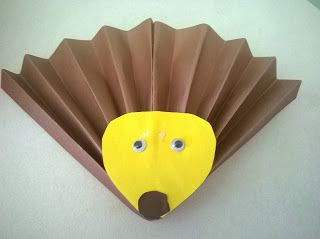 Craft for Kids! Very simple hedgehog!