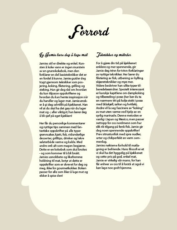 Forrord - kokebok design
