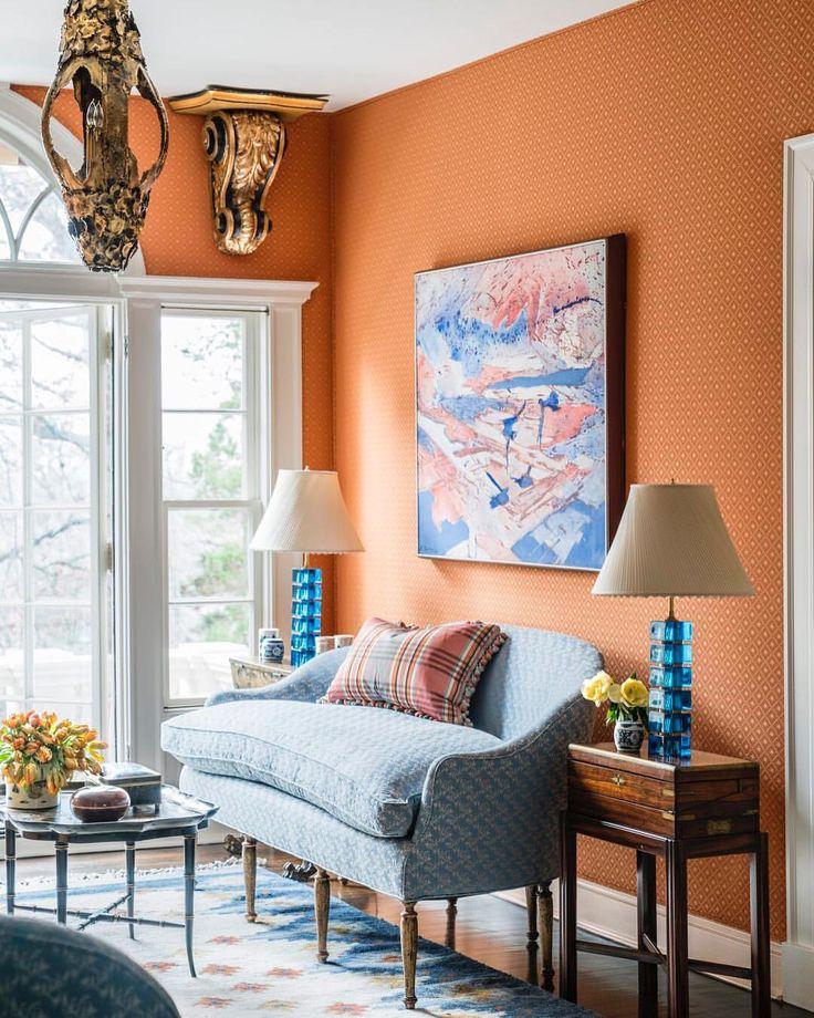134 besten COLOR CORAL - ORANGE -MARSALA ROOMS\Decor Bilder auf - wohnzimmer orange weis