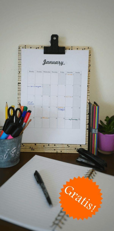 Freebie: Gratis Kalender 2016: