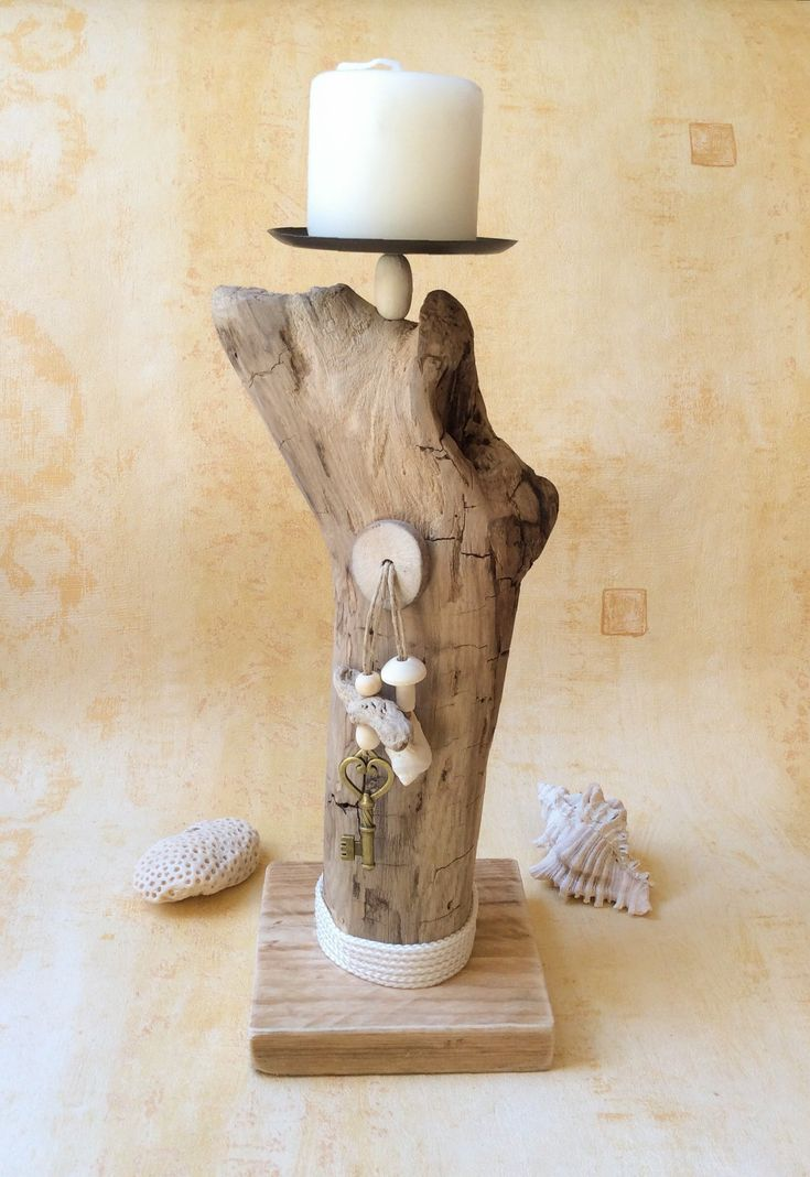 7 best DRIFTWOOD SCONCES images on Pinterest Driftwood ideas - designer mobel baumstammen