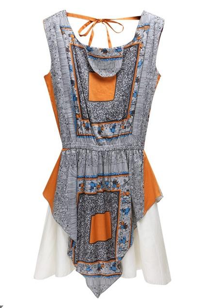 Block Bandeau Colorful Shift Dress