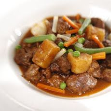 Glens of Antrim stew - I add a little curry to this and my dumplings ...