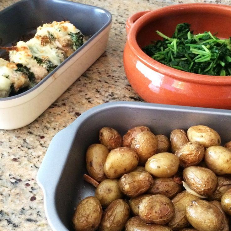 Gevulde kip met spinazie
