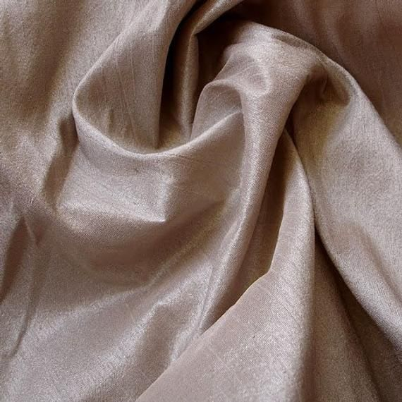 Peachish Beige Art Silk Fabric By The Yard Silk Cu…