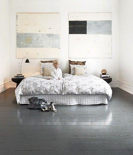 Modern white Danish apartment.