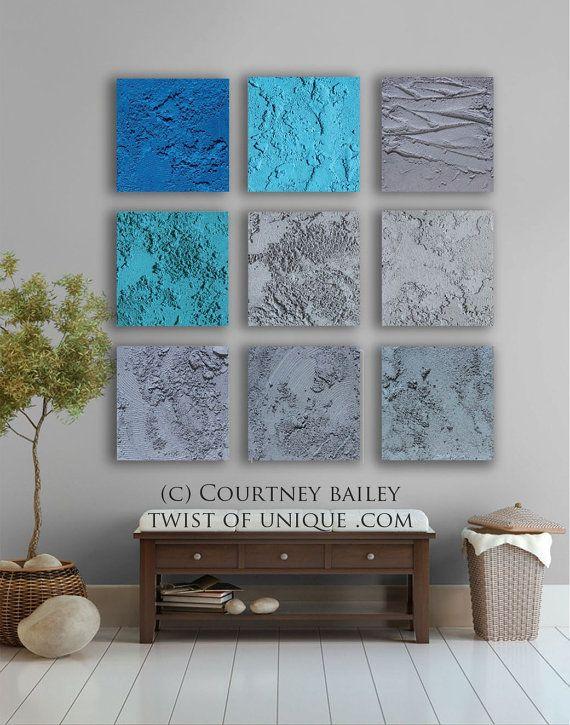 Concrete Abstract Wall art 9 square ORIGINAL by TwistOfUnique,