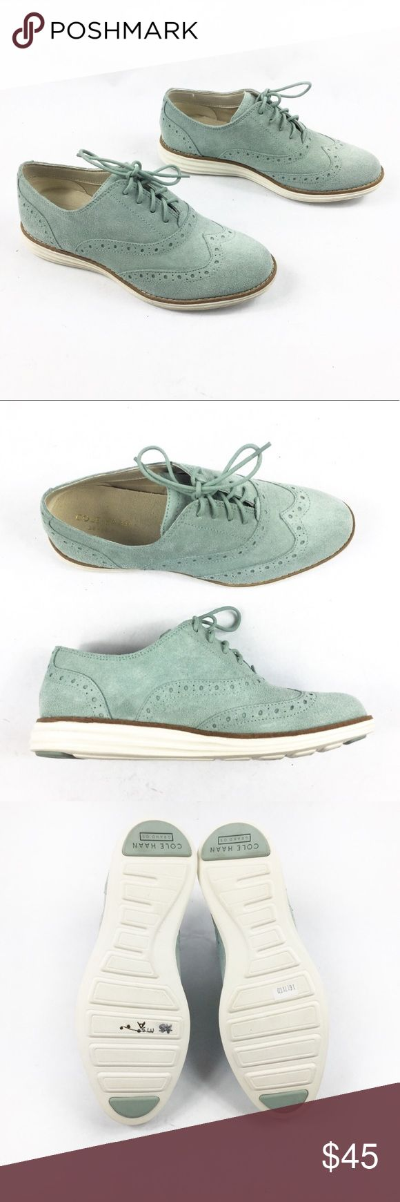 COLE HAAN GRAND OS SUEDE OXFORD MINT SHOES COLE HAAN GRAND OS SUEDE OXFORD MINT SHOES in size 5. New, no. If, no flaws. Waterproof sole, grand os Cole haan technology. Cole Haan Shoes Flats & Loafers