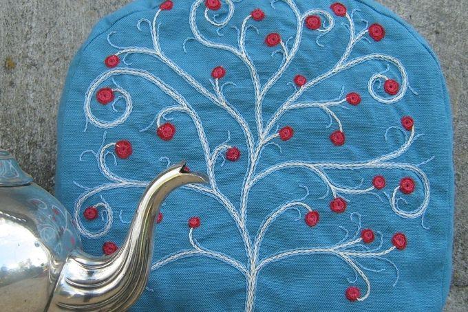 Embroidered Tea Cosy by la vie de Praerie