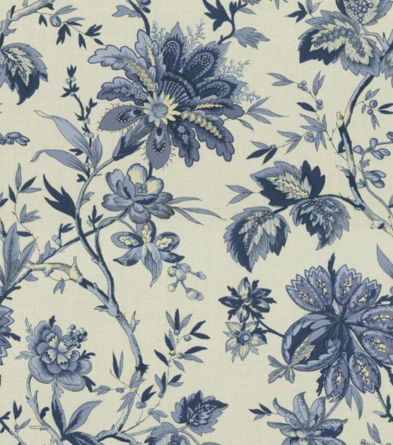 Home Decor Print Fabric-Waverly Felicite Indigo