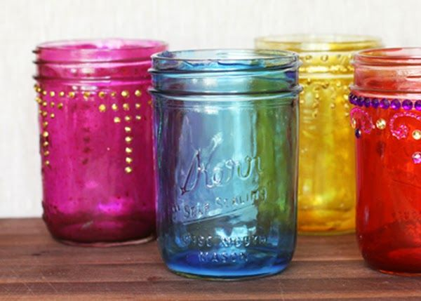 Πώς να δώσετε διάφανο χρώμα στα άδεια βάζα! | Φτιάξτο μόνος σου - Κατασκευές DIY - Do it yourself
