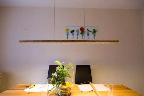Hängelampen - Led Hängelampe aus Eichenholz mit Baumkante  - ein Designerstück von ChKe88 bei DaWanda