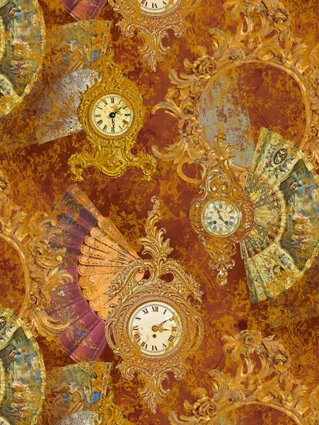 Rapport design The baroque clock and fans - www.surfacesdesign.ru