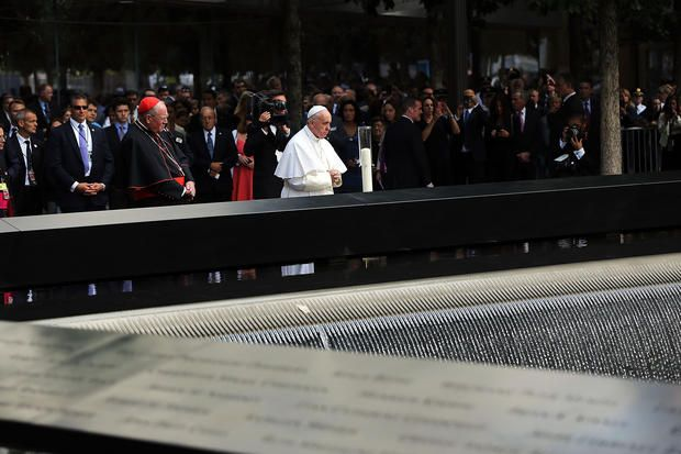 Pope Francis - 9/11 Memorial - Pope Francis in New York - Pictures - CBS News