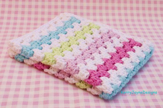 Cotton baby blanket handmade by kerry jayne by - Cesto para mantas ...