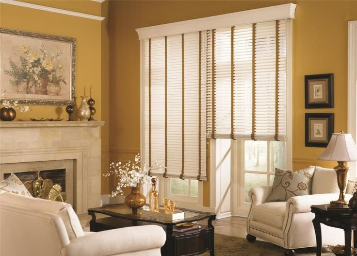 Your living room should be a place to sit back and relax, not worry if strangers can peek in on you. #Fabric #Blinds with Cloth Tapes