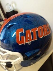 Florida Gators... possible new helmets?  The blue is gator skin, pretty sick!