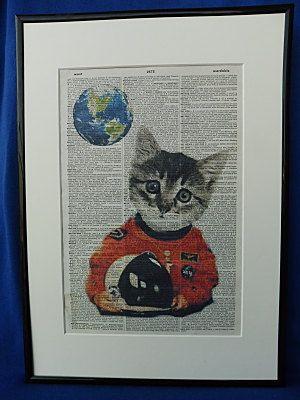 Cat Astronaut Wall Art Print by DecorisDesigns on Etsy