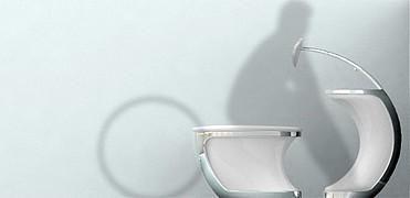 Toilette universelle Publié le 21 mars 2008 par Tonton @netkulture Un concept et prototype des désigners et étudiants Changduk Kim et Youngki Hong de l'Université de Daejin (Corée du Sud) avec ce coin toilette universel aux formes arrondis et élégantes afin de rendre les allées et venues des plus simples pour nos handicapés.   Un concept permettent aux personnes en fauteuil roulant de glisser vers l'avant directement sur les WC et dont le rebord du lavabo s'adapte aux formes du buste, ce…
