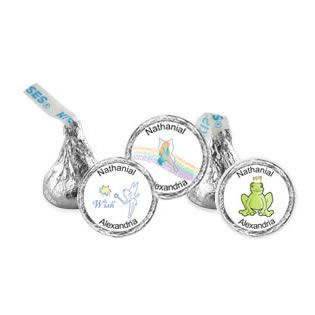 What says Fairy Tale more than an exquisite piece of chocolate?  A frog that becomes a prince? We have that, too!  Personalize your Hershey Kisses online and order today! http://www.favorfavor.com/page/FF/PROD/4218-kisses