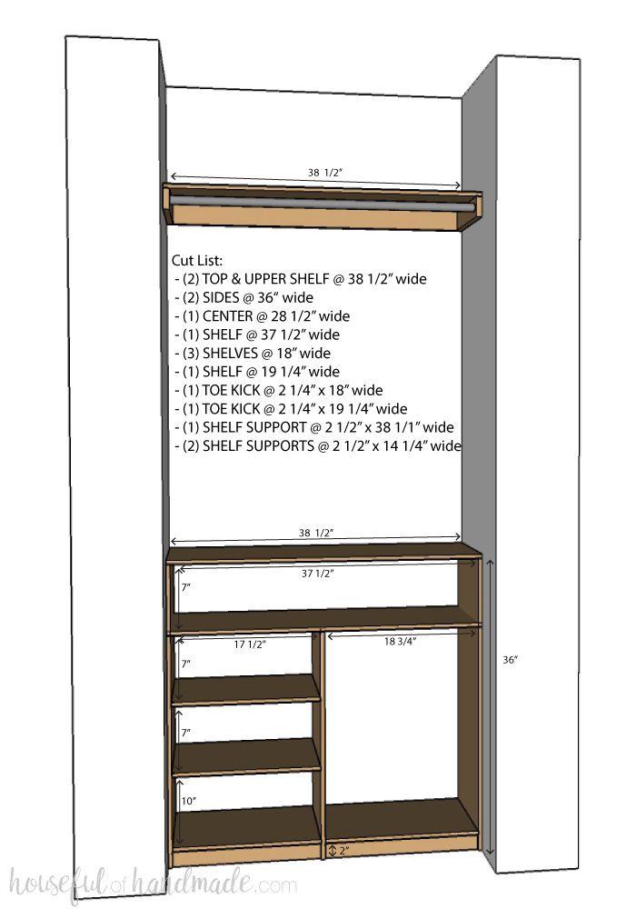 Diy Plywood Closet Organizer Build Plans Master Closet