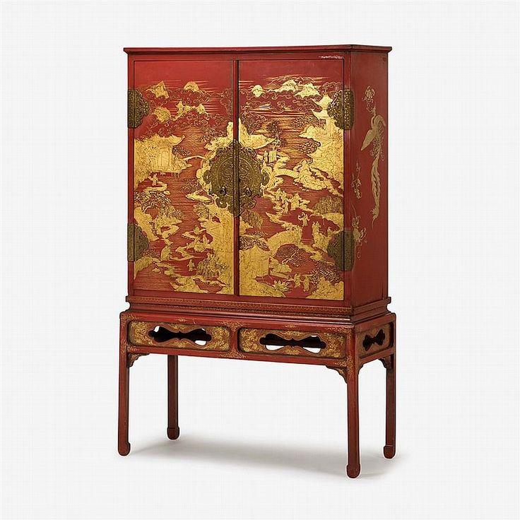 Les 111 meilleures images du tableau cabinets en laque for Cabinet chinois meuble