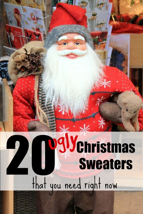 Ugly Christmas sweaters have risen to a new level. Check them out and be the most awesomely dressed party goer this year.